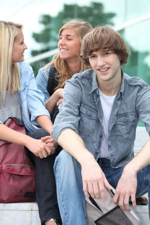 Teenagers on the steps Stock Photo - 12057847