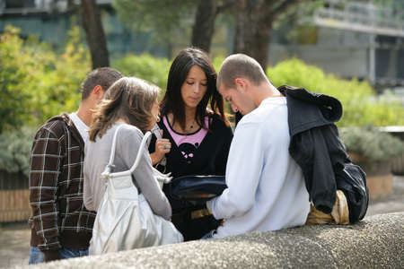 collegian: Students looking at a rucksack