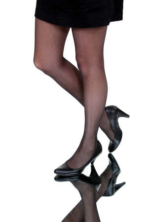 Close-up of woman wearing tights photo