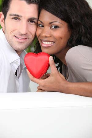 interracial relationships: happy mixed couple