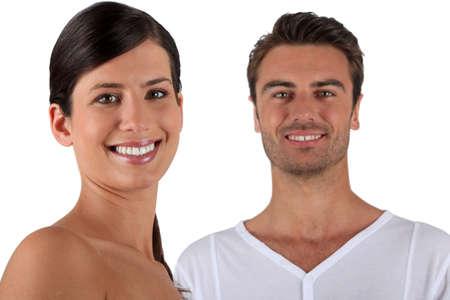 Couple in their underwear photo