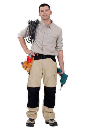 Portrait of a handyman photo