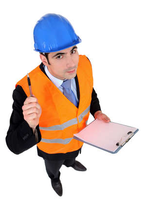 An architect with a clipboard. Stock Photo - 12057449