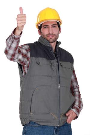 Tradesman giving the thumb photo