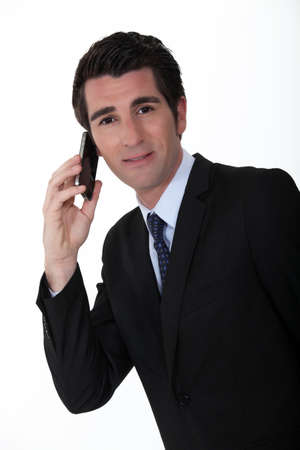 Businessman making telephone call Stock Photo - 12057617