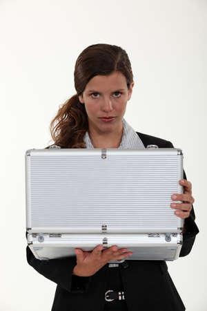attache: Woman with an attache case