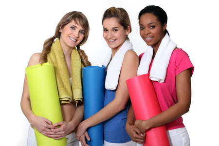 Woman getting ready for gym class Stock Photo - 12057712