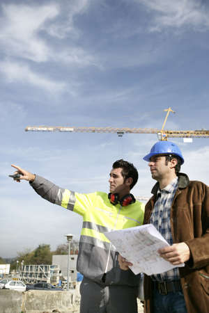 Engineers on a building site photo