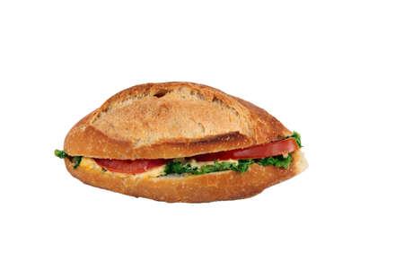 Sandwich on white background Stock Photo - 12088332