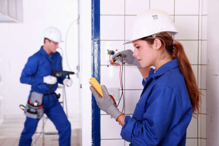 Electricians at work photo