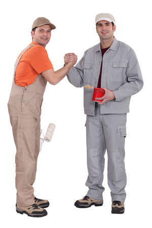 Painters forming a pact photo
