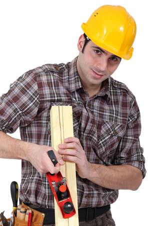 craftsman rasping a board photo