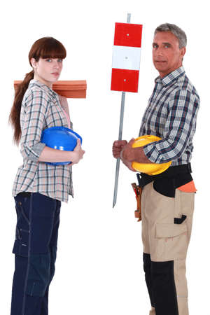 servicewoman: A team of labourers