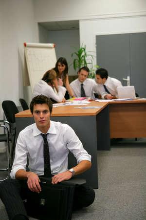 Businesspeople brainstorming photo