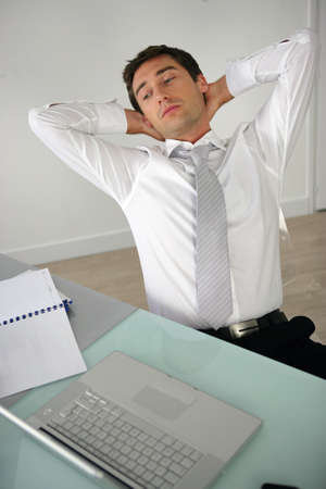 Tired businessman photo