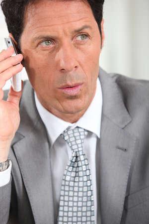 45: Businessman on the phone Stock Photo