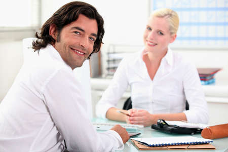 Meeting with a finance advisor Stock Photo - 12089216