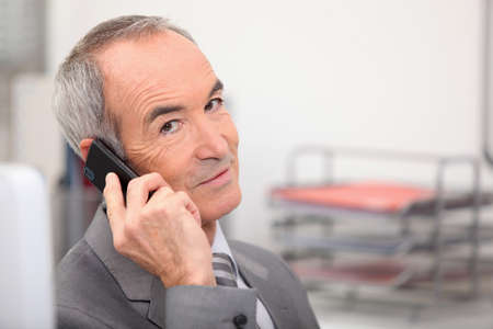 Senior executive on the  phone Stock Photo - 12089731