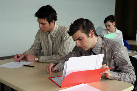 essay: Students hard at work in class