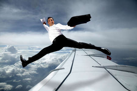 businessman in the sky photo