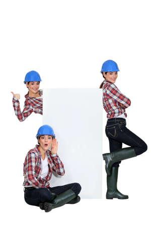 woman with helmet photo