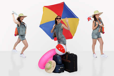 young woman ready for her summer vacation photo