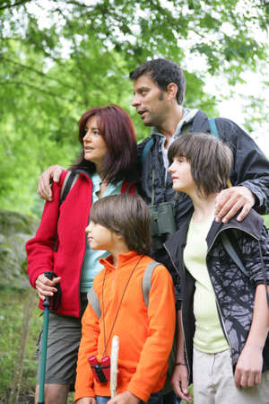 Family on hiking holiday photo