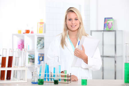 portrait of a lab assistant photo