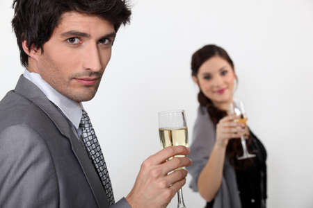 couple drinking champagne Stock Photo - 12089636