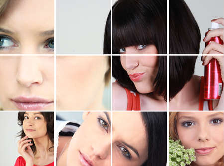 puckered lips: A collage of young and attractive women