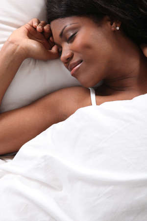African woman sleeping photo