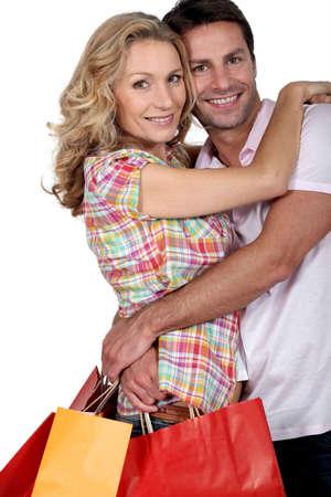 Cuddle avec des sacs Banque d'images - 12098042