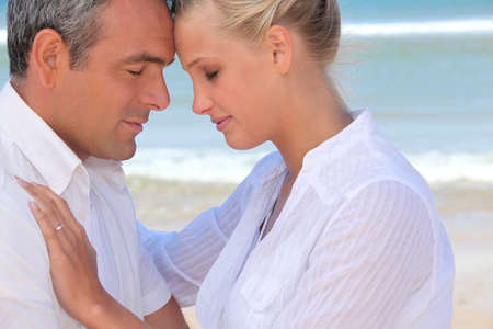 Couple enjoying the beach Stock Photo - 12092123