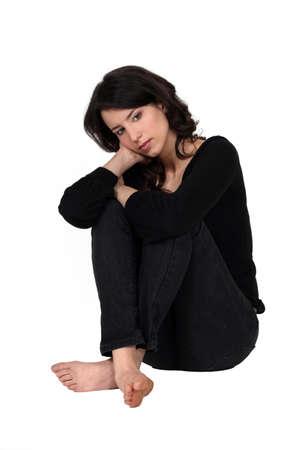 Eine depressive Frau Standard-Bild