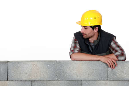 supported: Mason supported wall