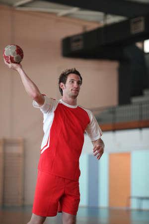 Handball player photo