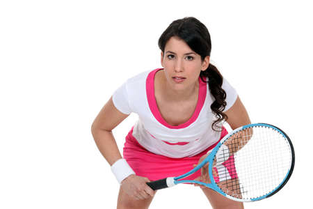 Woman playing tennis photo