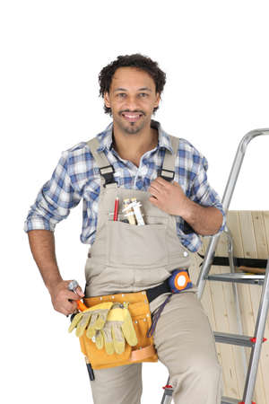 Portrait of Carpenter Stock Photo - 12132379