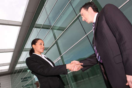 business people shaking hands Stock Photo - 12132548