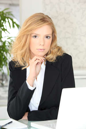 young businesswoman Stock Photo - 12133028