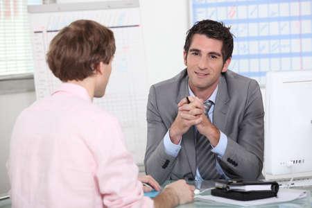 man in job interview photo