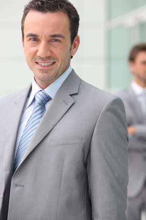 workteam: Smiling businessman Stock Photo
