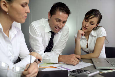 stakeholders: Adults training Stock Photo