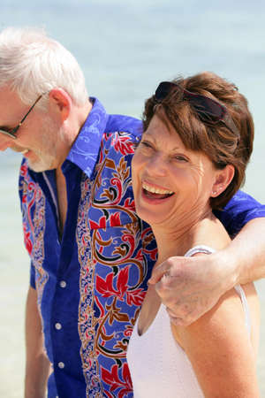 baby boomer: Couple enjoying each other Stock Photo