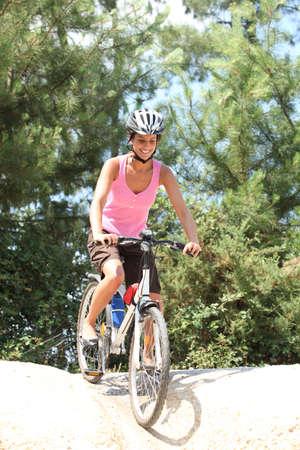 Female mountain biker photo