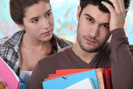 Depressed student being consoled Stock Photo - 12132648