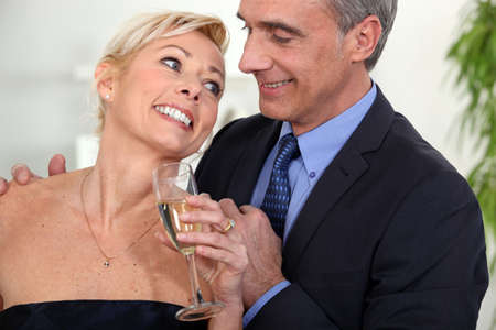 A middle age couple celebrating. Stock Photo - 12133143