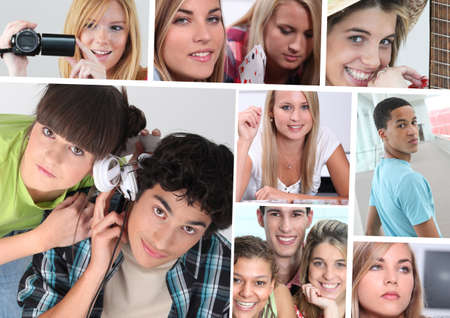 spare time: young people practicing hobbies Stock Photo