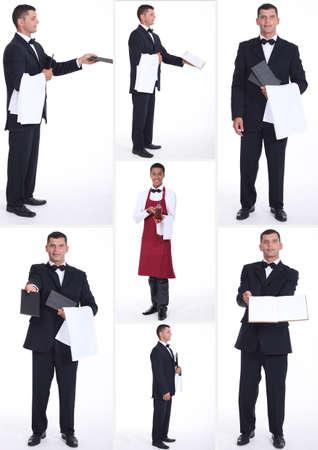 camarero: Collage de trabajadores de la hostelería