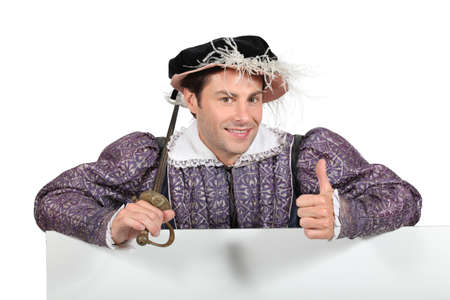 Man in Tudor costume Stock Photo - 12132924